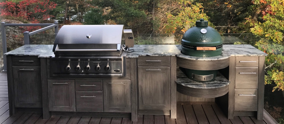 Grill with Green Egg